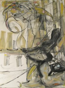 "Tom Westberg - Untitled - Nov15 - 40"" x 30"" - acrylic, charcoal on canvas"